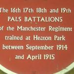 Battlefield - Heaton Park Plaque