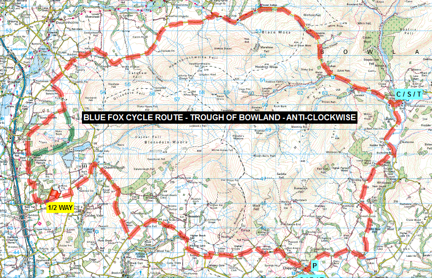 CYCLE ROUTES - Map Sample