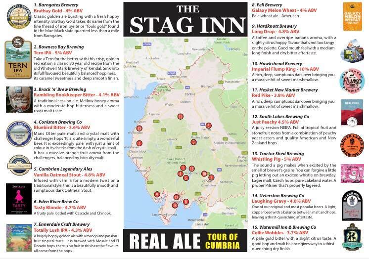 Dufton - Stag Inn Beer Map