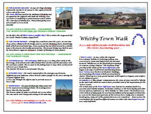 Walks Around Whitby - Town Tour